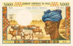 Mali, 5,000 Franc, P-0014e