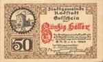 Austria, 50 Heller, FS 811