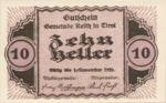 Austria, 10 Heller, FS 831a