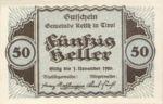 Austria, 50 Heller, FS 831a