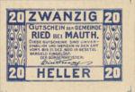 Austria, 20 Heller, FS 833b
