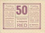 Austria, 50 Heller, FS 834Ib1nt