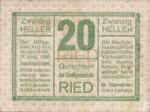 Austria, 20 Heller, FS 834Ib3t