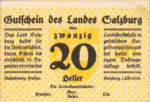 Austria, 20 Heller, FS 860I