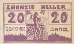 Austria, 20 Heller, FS 874Ia