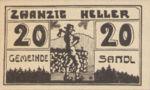 Austria, 20 Heller, FS 874Ib