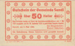 Austria, 50 Heller, FS 874Ib