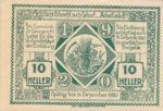 Austria, 10 Heller, FS 885I