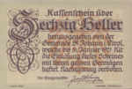 Austria, 60 Heller, FS 898a