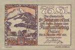 Austria, 75 Heller, FS 898a