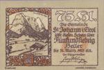 Austria, 75 Heller, FS 898e