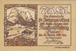 Austria, 75 Heller, FS 898f