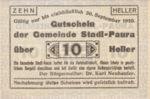 Austria, 10 Heller, FS 1008Ia