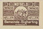 Austria, 20 Heller, FS 997a