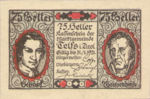 Austria, 75 Heller, FS 1061a