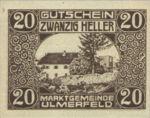 Austria, 20 Heller, FS 1089Ia