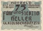 Austria, 75 Heller, FS 1091a