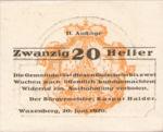 Austria, 20 Heller, FS 1144II