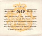 Austria, 80 Heller, FS 1144II