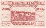 Austria, 10 Heller, FS 1163a