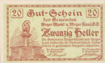 Austria, 20 Heller, FS 1175