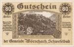 Austria, 80 Heller, FS 1254