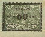 Austria, 60 Heller, FS 506IdF