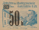 Austria, 50 Heller, FS 808SSIIh