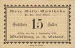 Austria, 15 Heller, FS 1232d