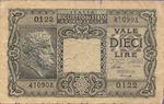 Italy, 10 Lira, P-0032a v1