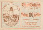 Austria, 80 Heller, FS 933II