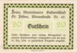 Austria, 20 Heller, FS 931a