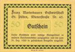 Austria, 50 Heller, FS 931a