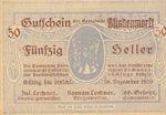 Austria, 50 Heller, FS 93Ih
