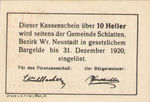 Austria, 10 Heller, FS 105a