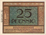 Germany, 25 Pfennig, A20.6a