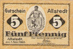 Germany, 5 Pfennig, A7.1a