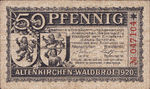 Germany, 50 Pfennig, A9.1c