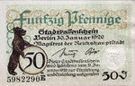Germany, 50 Pfennig, B27.3a