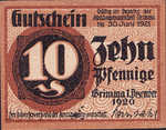 Germany, 10 Pfennig, G45.3a