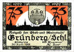 Germany, 75 Pfennig, 489.5a
