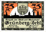 Germany, 75 Pfennig, 489.5b