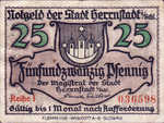Germany, 25 Pfennig, H31.3a