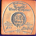 Germany, 25 Gold Pfennig, 458b