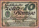 Germany, 10 Pfennig, P23.1a