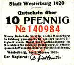 Germany, 10 Pfennig, W33.5ax