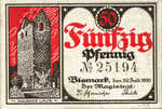 Germany, 50 Pfennig, B56.1a