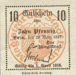 Germany, 10 Pfennig, E33.10e