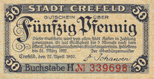 Germany, 50 Pfennig, C29.6b