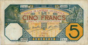 French West Africa, 5 Franc, P5Bf v1
